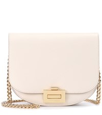 Victoria Beckham Box With Chain Leather Shoulder Bag White