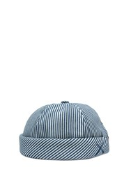 Beton Cire Handmade Striped Cotton Denim Sailor Hat