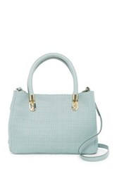 Cole Haan Benson Small Woven Leather Satchel Green