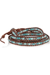 Chan Luu Cord And Beaded Bracelet Blue