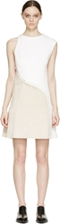 3.1 Phillip Lim White Lace Up Asymmetrical Dress