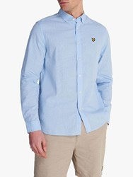 Lyle And Scott Cotton Linen Shirt Pool Blue