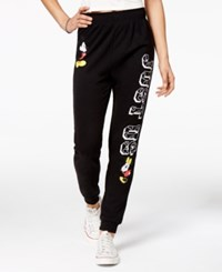 Disney Juniors' Mickey And Minnie Mouse Graphic Sweatpants Black
