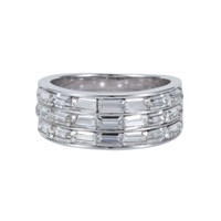Aurora Baguette Ring Metallic