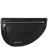 Alexander Mcqueen Leather Waist Bag Black