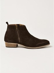 Topman Brown Suede Mount Zip Boots