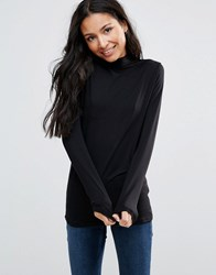 B.Young Long Sleeve Top Black