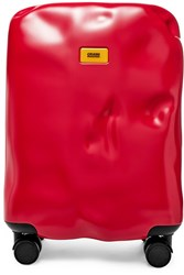 Crash Baggage Icon Carry On Hardshell Suitcase Red