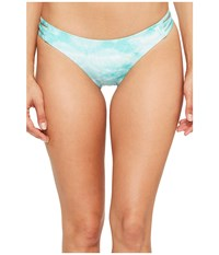 Hurley Quick Dry Tie Dye Surf Bottoms Washed Teal Women's Swimwear Blue