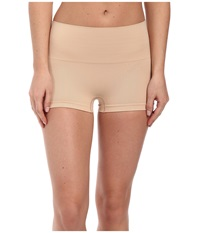 Spanx Everyday Shaping Panties Seamless Boyshort Soft Nude Women's Underwear Beige