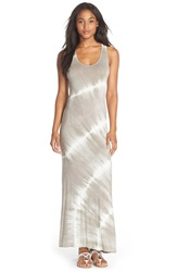Fraiche By J Tie Dye Racerback Maxi Dress Beige White