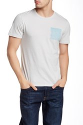 Jason Scott Blue Square Crew Neck Tee Gray