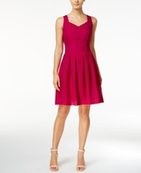 Ivanka Trump Checkered Fit And Flare Dress Pink