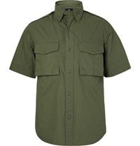 Snow Peak Cotton Poplin Shirt Army Green