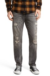 True Religion Men's Big And Tall Brand Jeans 'Geno' Straight Leg Jeans Dfum Grey Misfit