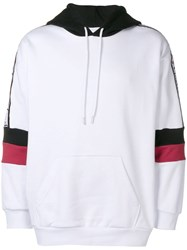 Gaelle Bonheur Colour Block Long Sleeve Hoodie White