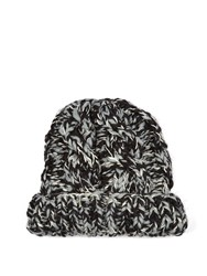 Missoni Chunky Knit Wool And Cashmere Blend Beanie Hat Black White
