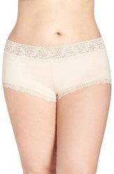 Hanky Panky Plus Size Women's Stretch Cotton Boyshorts Chai