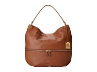 Lauren Ralph Lauren Meysey Hobo Bourbon Hobo Handbags Brown
