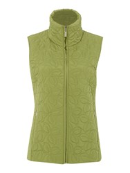 Tigi Leaf Quilted Gilet Green