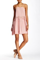 Free People Two For Tea Slip Dress Pink