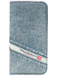 Diesel Denim Print Iphone Case Blue