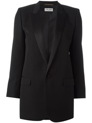 Saint Laurent 'Iconic Le Smoking 80'S' Tuxedo Jacket Black
