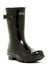 Barbour Short Gloss Boot Black