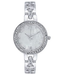 Charter Club Women's Mother Of Pearl Bracelet Watch 30Mm Created For Macy's Silver