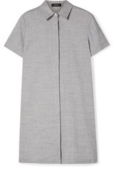 Theory Organic Linen Blend Mini Dress Light Blue