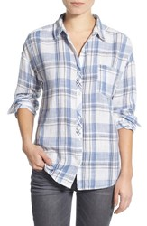 Junior Women's Bp. Plaid Cotton Shirt