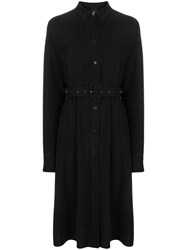 Aspesi Belted Shirt Dress Black