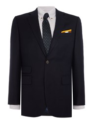 Chester Barrie Solid Twill Soho Jacket Blue