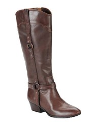 Sofft Porter Signature Leather Boots Brown