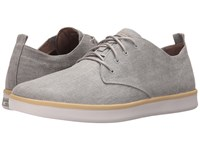 Mark Nason Sycamore Gray Canvas Natural Pin White Bottom Men's Lace Up Casual Shoes Beige