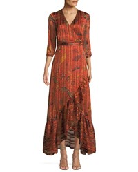 Baandsh Disy Printed Maxi Dress Red