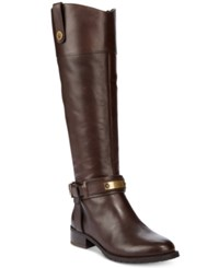 Inc International Concepts Women's Fabbaa Tall Boots Only At Macy's Women's Shoes Dark Chocolate