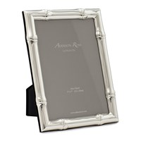 Addison Ross Wide Bamboo Photo Frame Silver 4X6