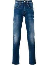 Cycle Distressed Skinny Jeans Blue