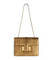 Tom Ford Small Sienna Python Chain Bag Female Gold