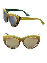 Dax Gabler Cat Eye Sunglasses Lime Ombre