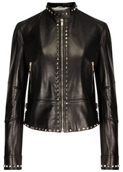 Valentino Rockstud Black Leather Biker Jacket