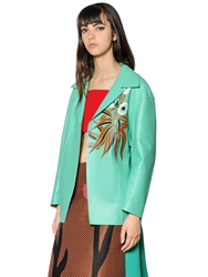Marni Double Face Nappa Leather Jacket Mint