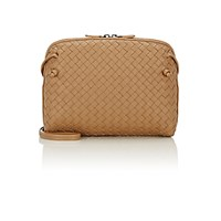 Bottega Veneta Women's Intrecciato Messenger Tan