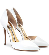 Alexandre Vauthier Angelina Patent Leather Pumps White