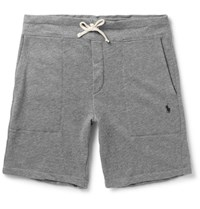Polo Ralph Lauren Loopback Cotton Blend Jersey Shorts Gray