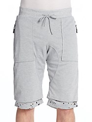 American Stitch Splatter Cuff Shorts Grey