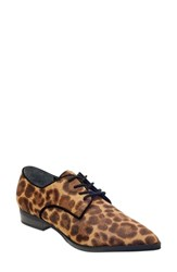 Marc Fisher Ltd Finna Pointy Toe Derby Leopard Print Calf Hair