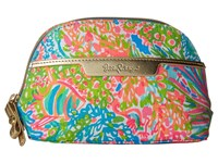 Lilly Pulitzer Shore Cosmetic Bag Seaspray Blue Lovers Coral Cosmetic Case Multi