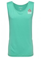 Reebok Crossfit Sports Shirt Neon Pacific Turquoise